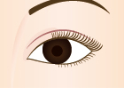 スッキリとした目元の完成!目を閉じても手術した後はわかりません。